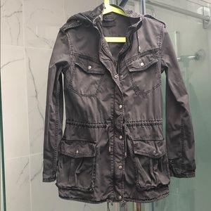 Aritzia Talula grey trooper utility jacket
